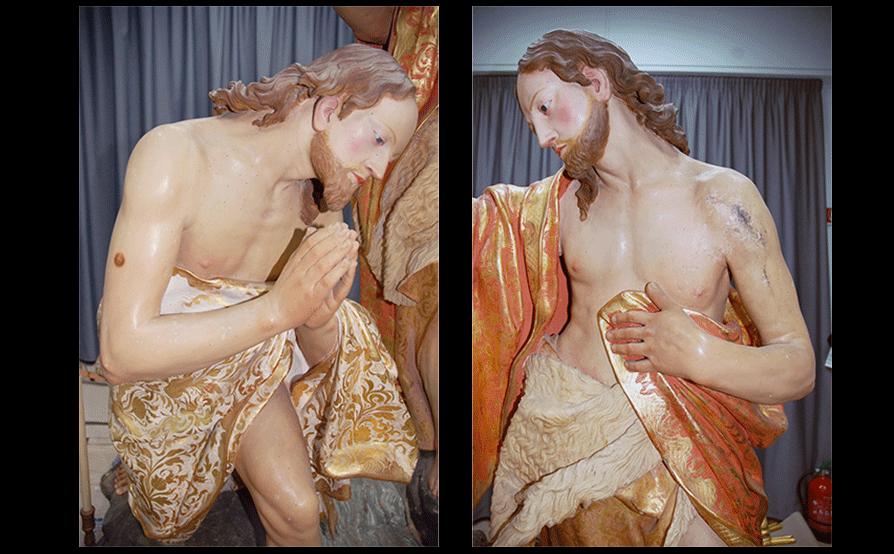 Battesimo di Cristo - Sassello - Prima del restauro