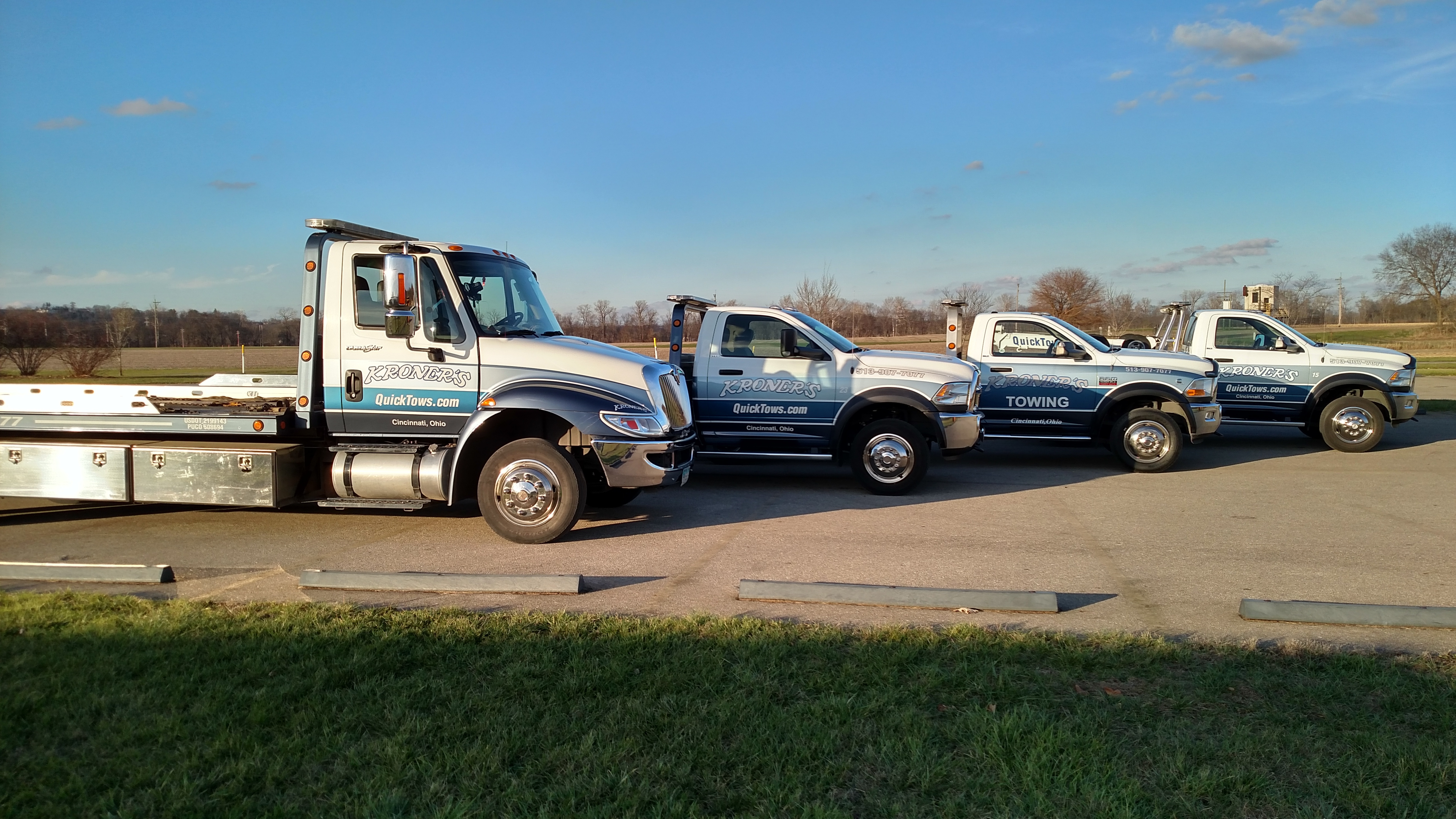Roadside Assistance trucks in Cincinnati Ohio