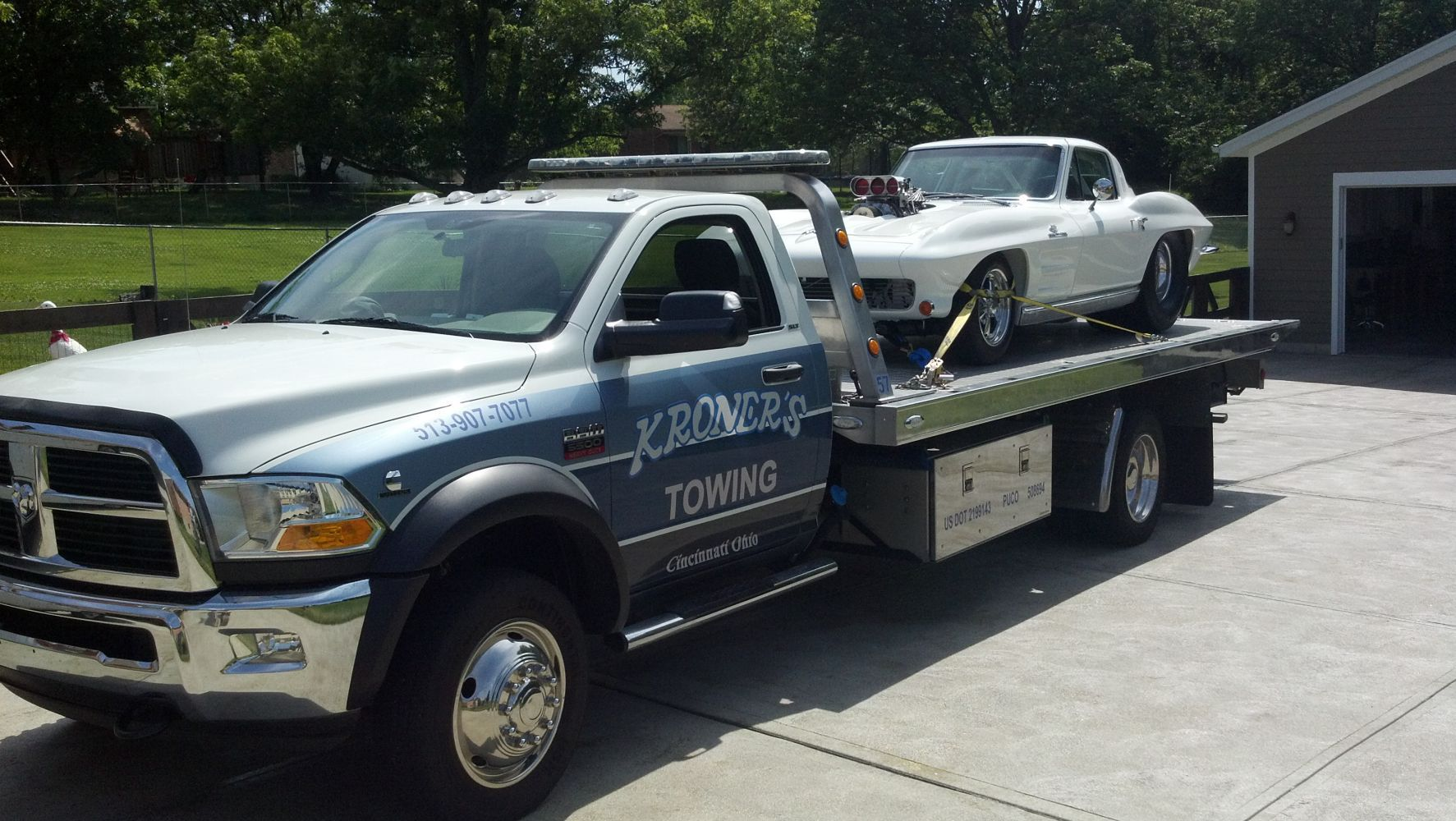 The truck used by our experts for roadside assistance in Cincinnati, OH