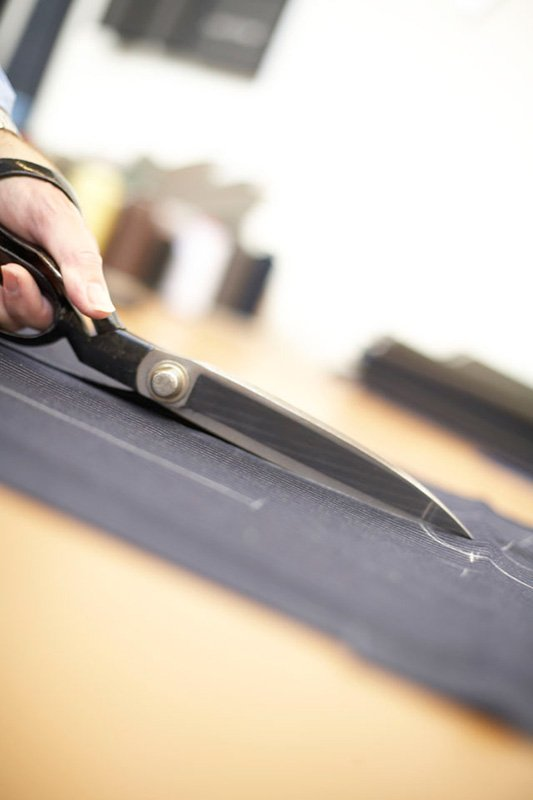 cloth being cut