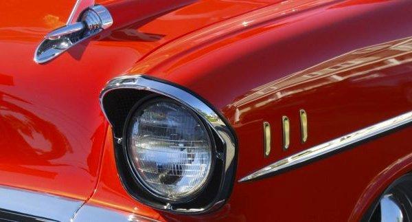 Front light vintage car