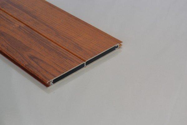 due zoccolini in pvc color legno