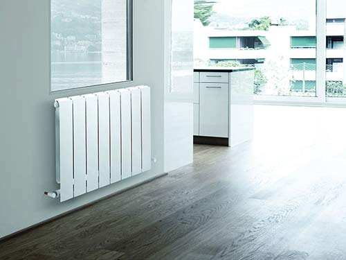 White color heating heating radiator