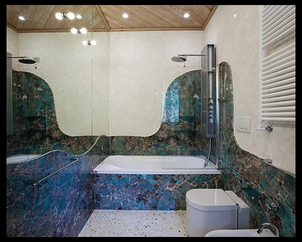 pareti bagno marmo