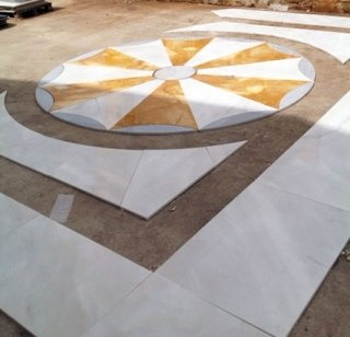 Assembly of marble floor