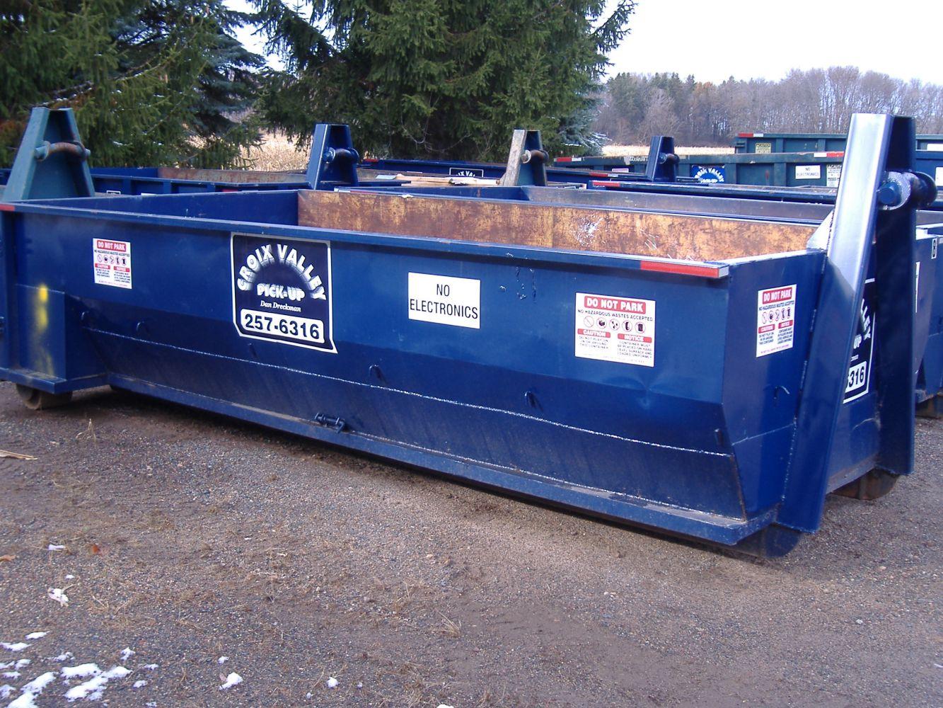 Dumpster Rentals Chisago City Mn Croix Valley Pick Up