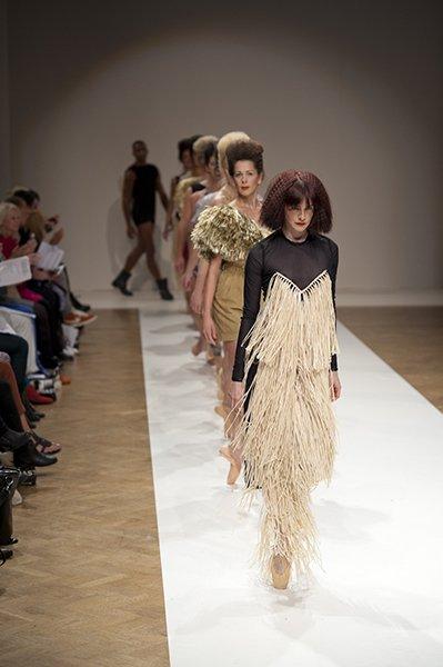 models walking the ramp