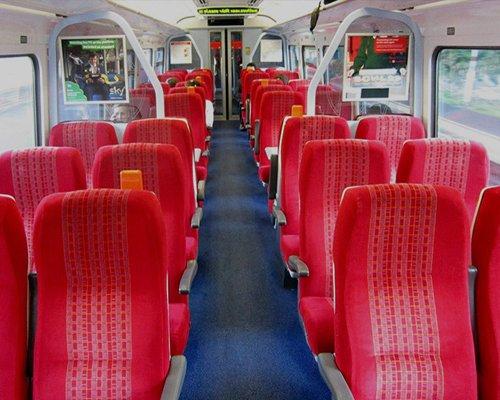 Interno carrozza di un treno