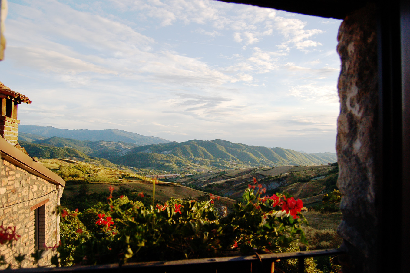 Mossago window view from pinuccias hidden Italy tours