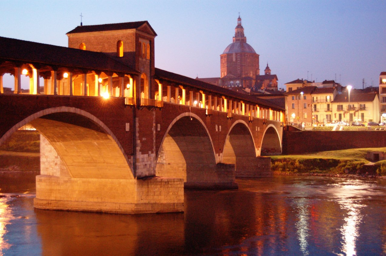 Amazing Pavia night shot at Italy tours