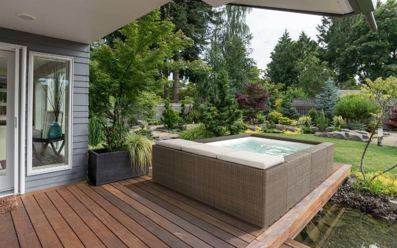 vendita piscina fuori terra moderna marrone