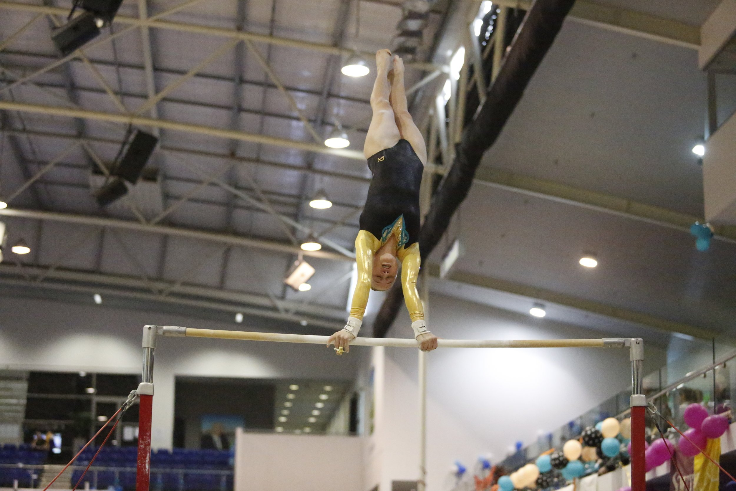 Indoor  Gymnastics Club training session