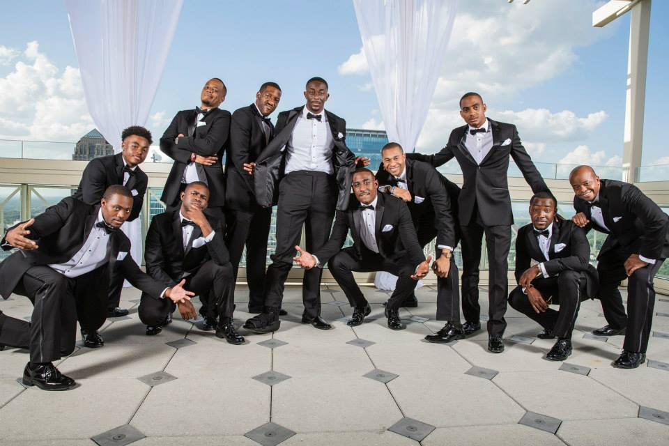Bridegroom with groomsmen