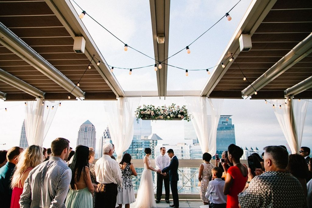 A rooftop wedding