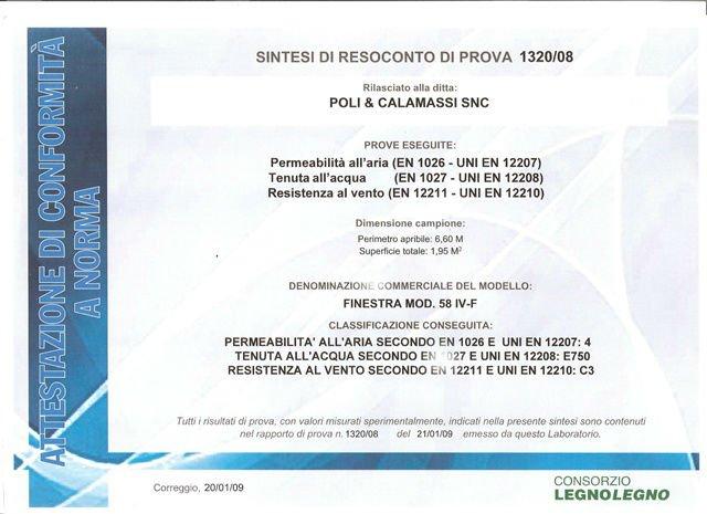 un'attestazione rilasciato alla ditta Poli & Calamassi SNC