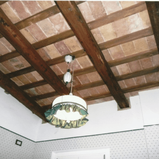 soffitto con travi