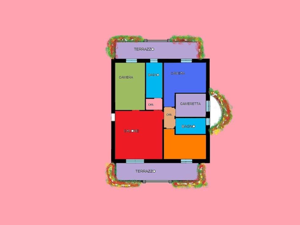 piantina 4 locali roncello