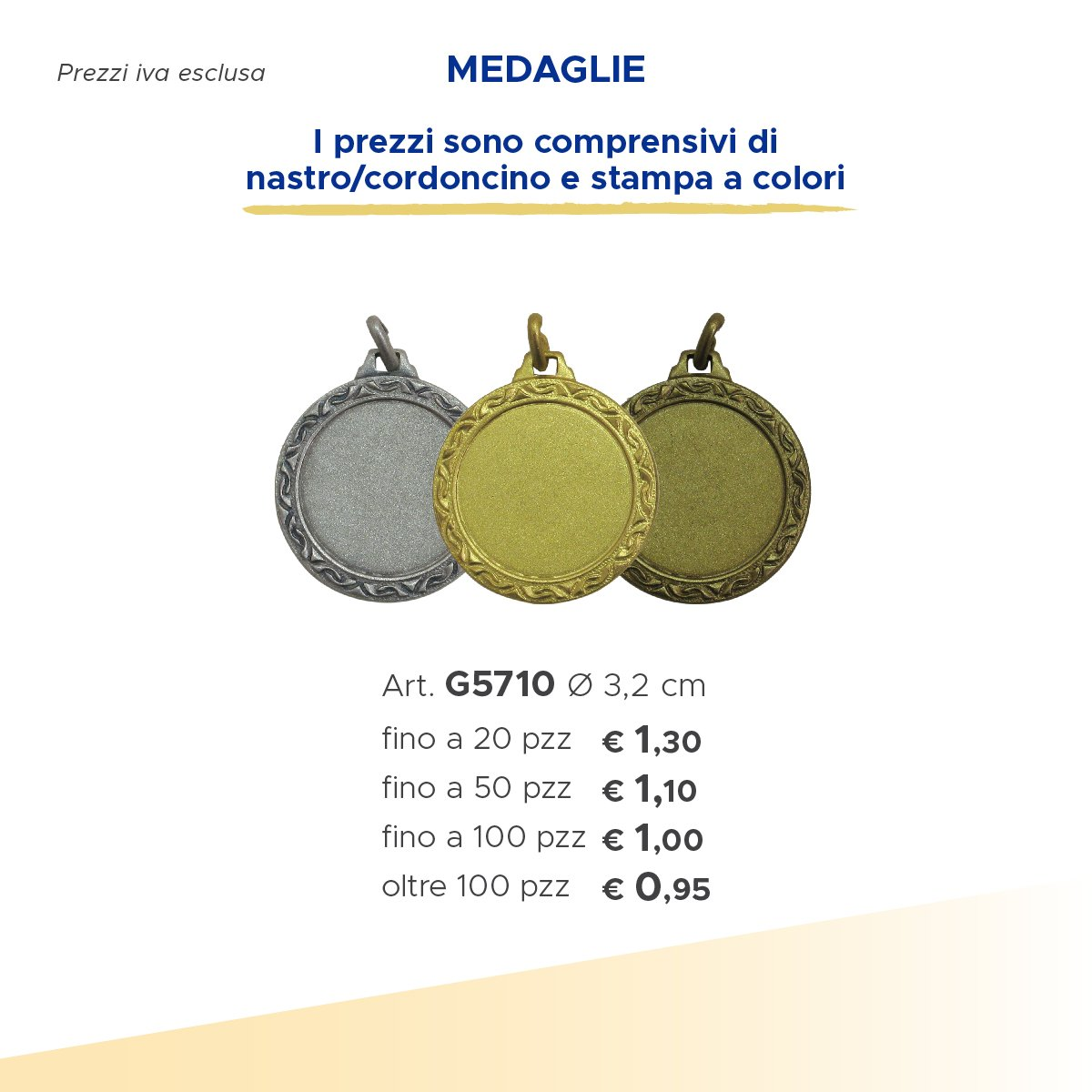 set di tre medaglie