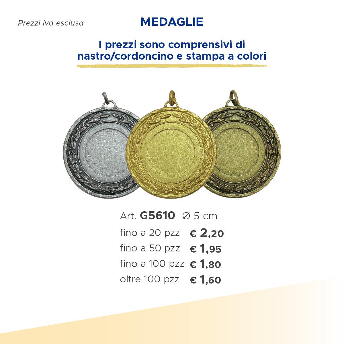 medaglie in argento e oro