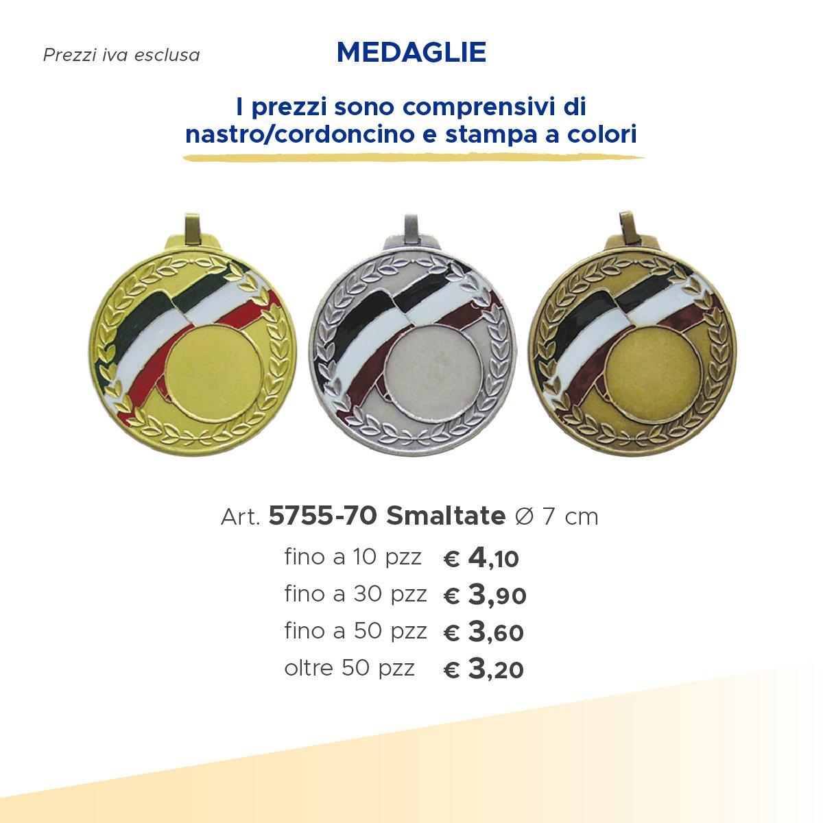 medaglie con bandiera italiana