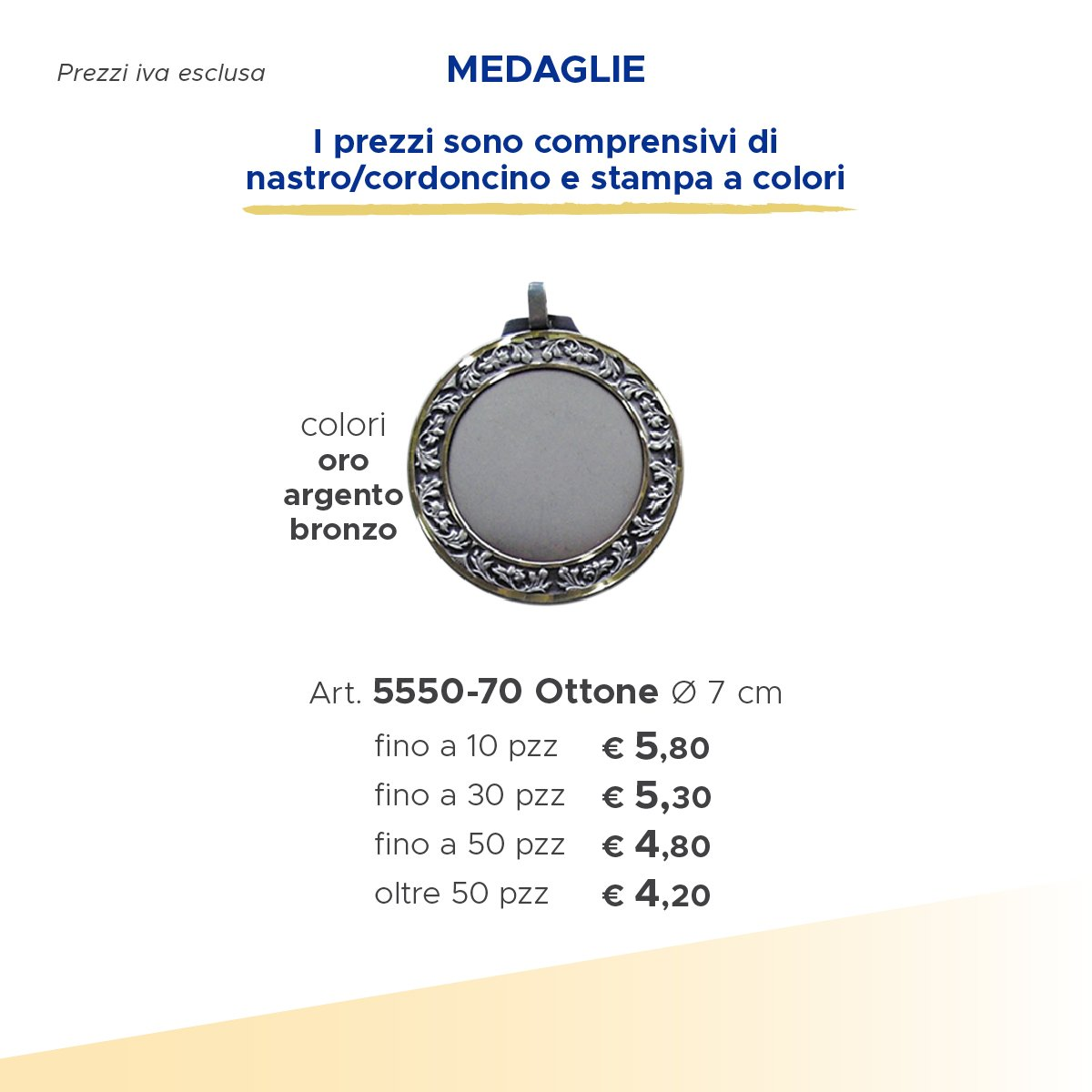 medaglia in argento