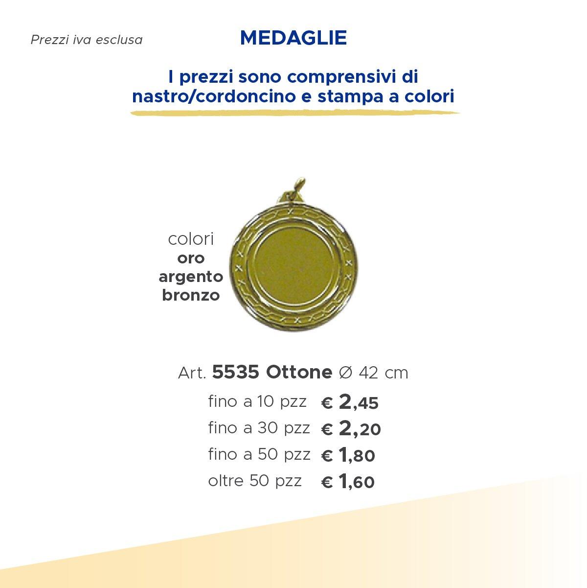 medaglia in oro