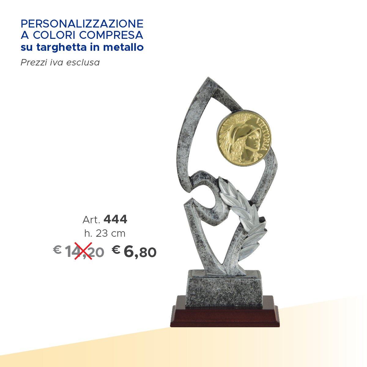 un trofeo personalizzabile e accanto il prezzo