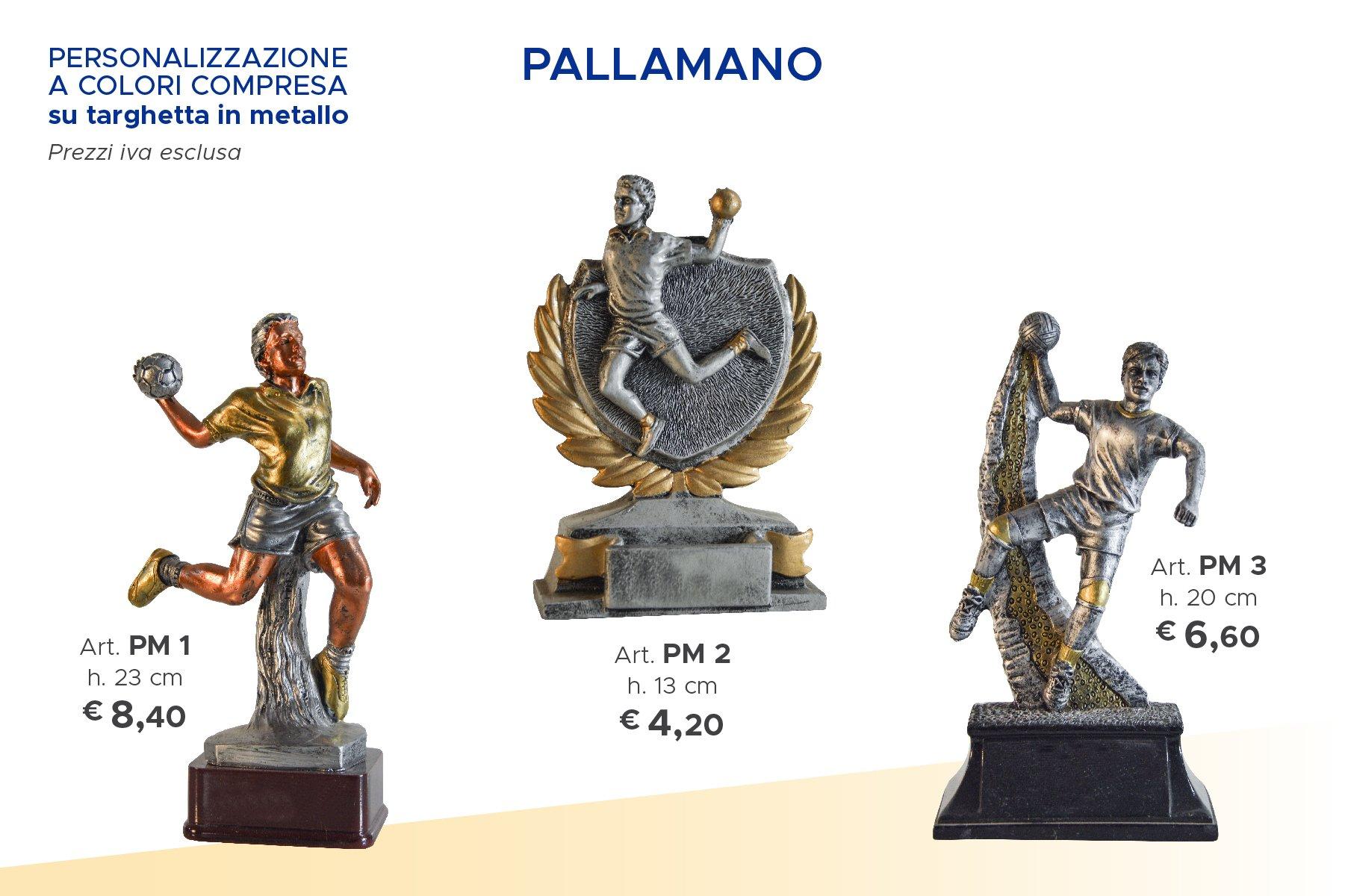 trofei sportivi di pallamano