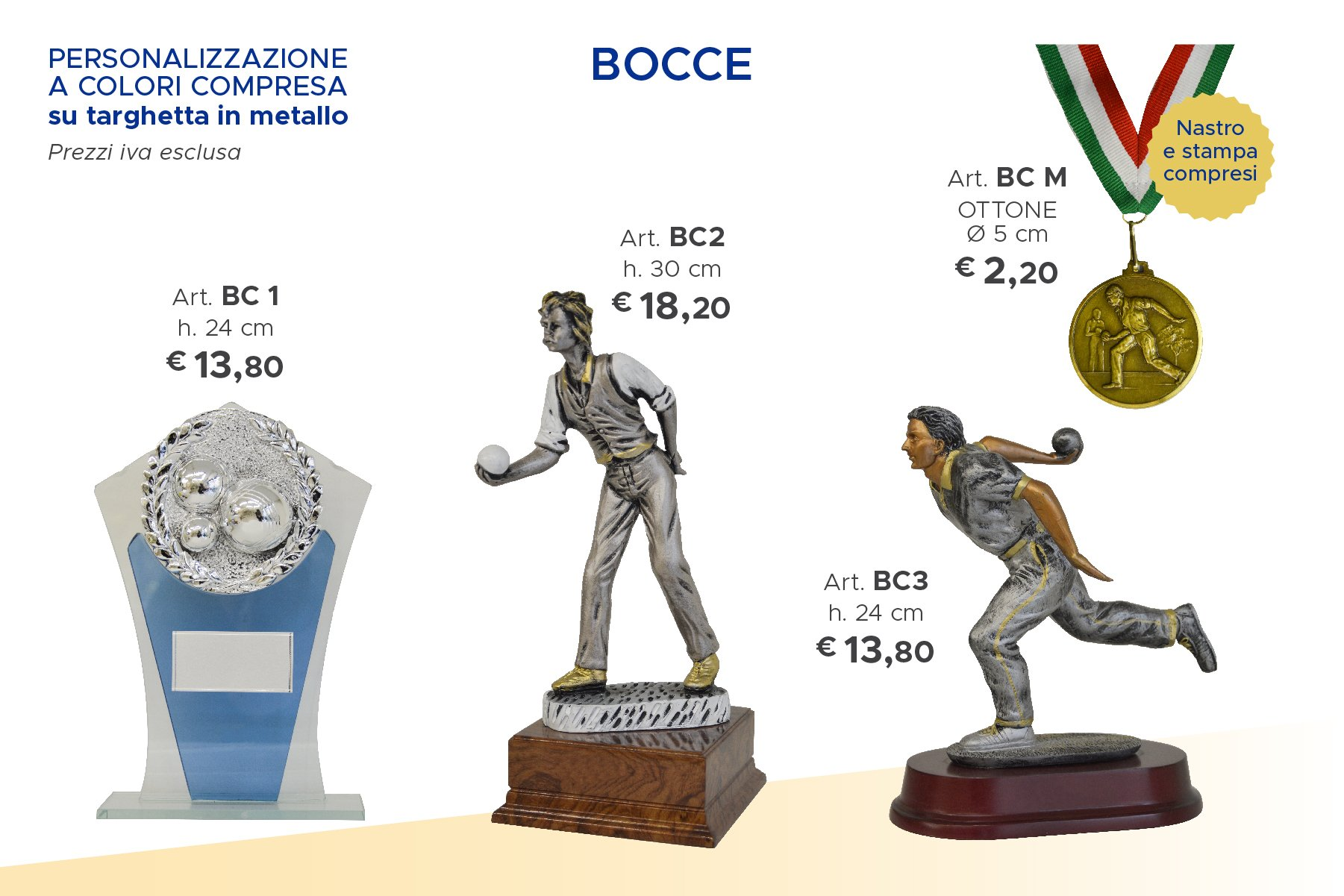 trofei e medaglie bocce