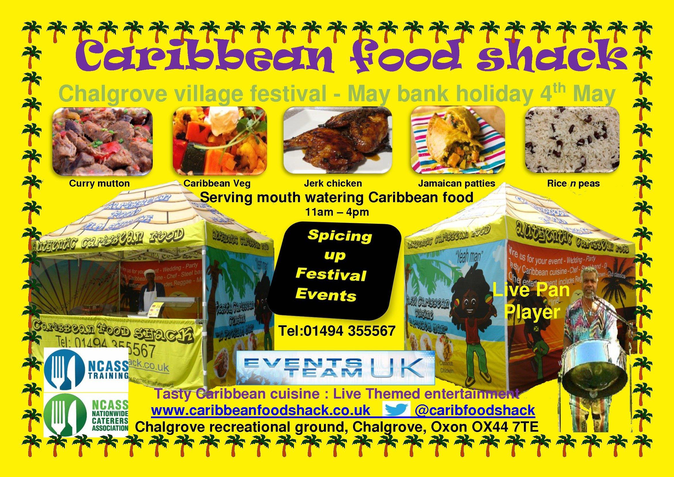 Caribbean food shack flier