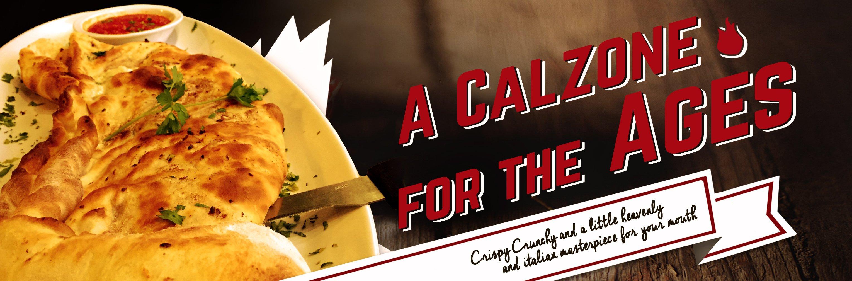 The Fusion Grill bar & restaurant in Lyndonville, VT serves crispy, crunchy Italian Calzones.