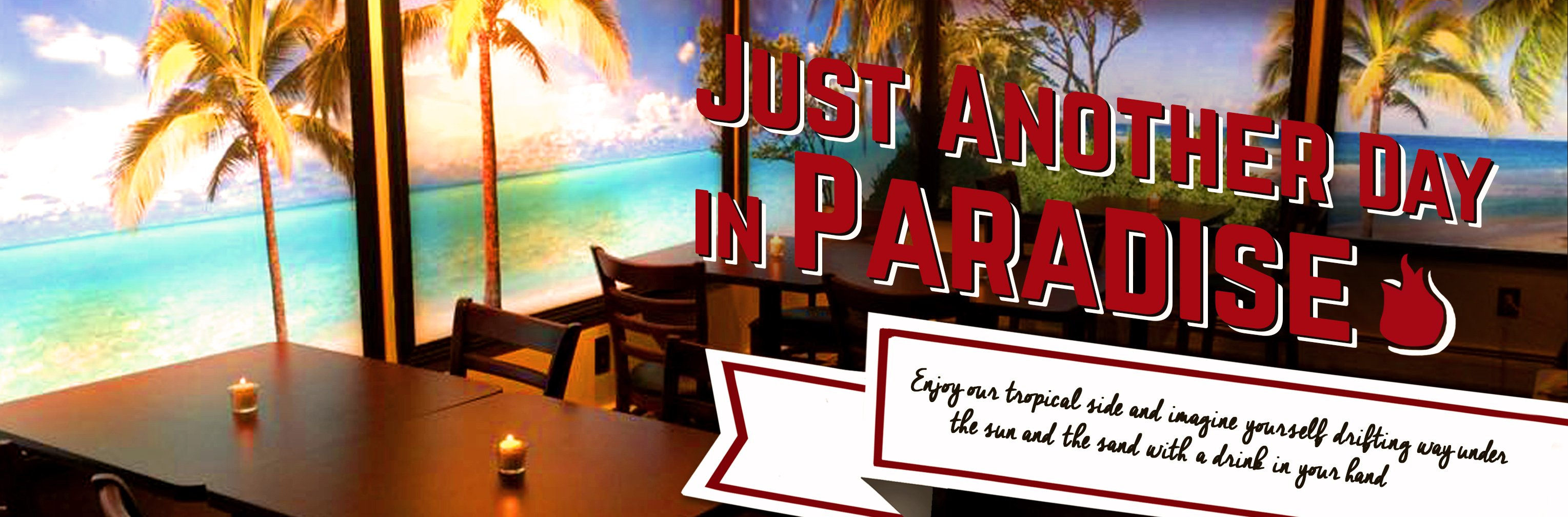 Visit the Tropical Paradise lounge at the Fusion Grill Bar & Restaurant in Lyndonville, VT
