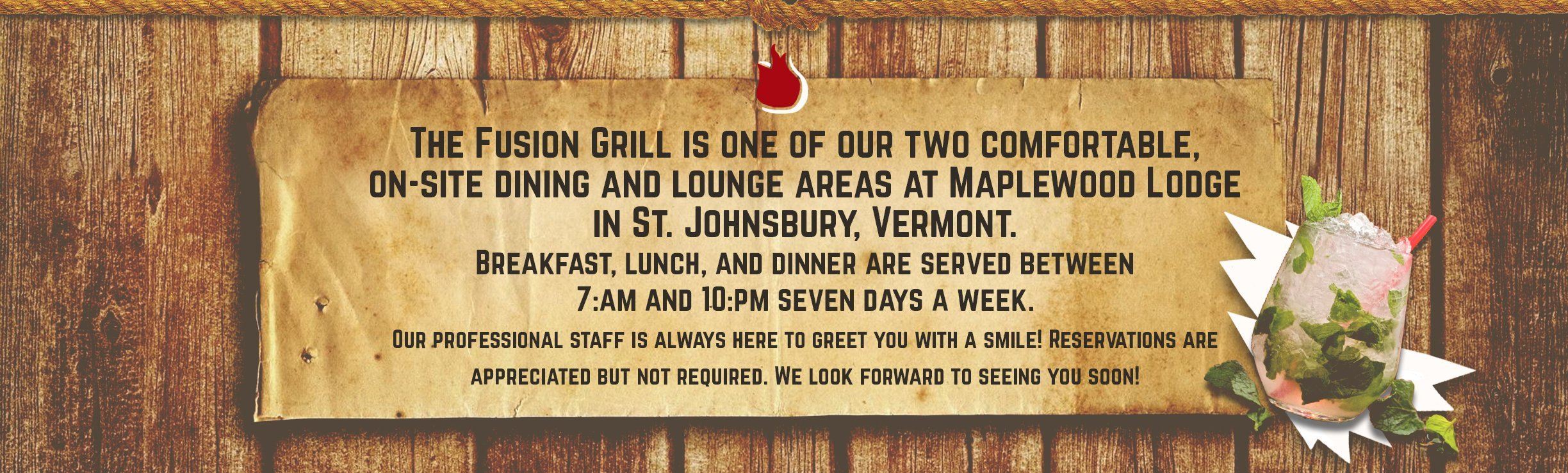 The Fusion Grill Bar & Restaurant in Lyndonville, Vermont.