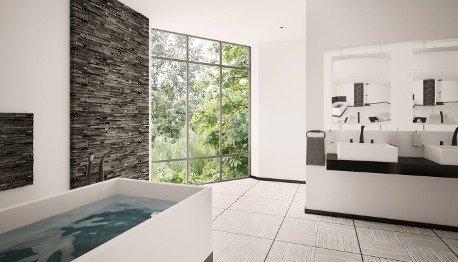 spacious wet room