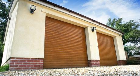 newly installed garage doors