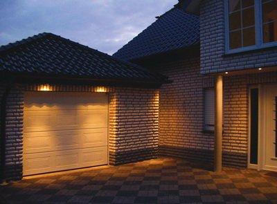 garage lights tuned on