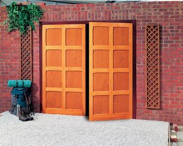 uniquely designed garage door
