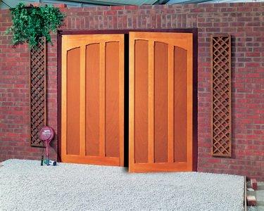 dual panel garage door