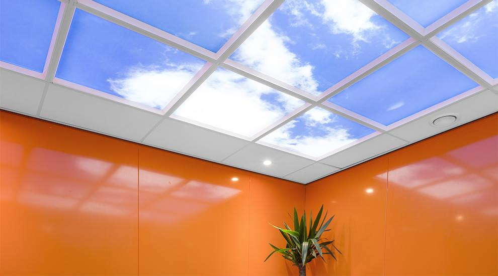 Innovative replacement Sky panel lighting for suspended ceilingsdd alt text