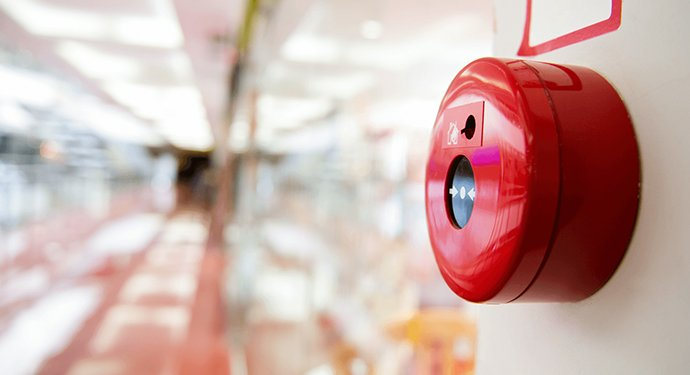 Fire alarm installation  red