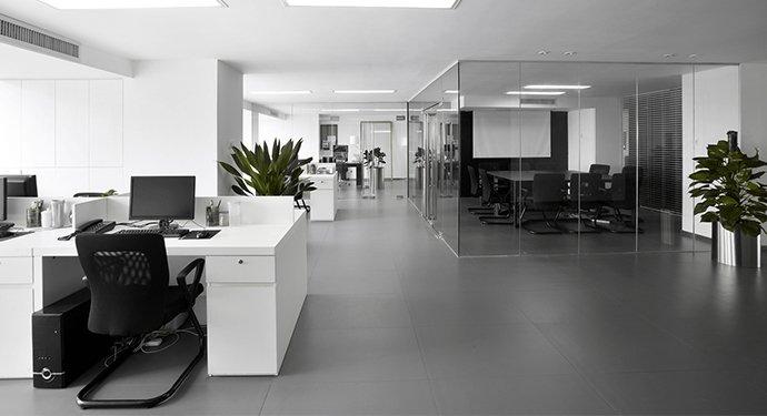 category b modern looking office open space