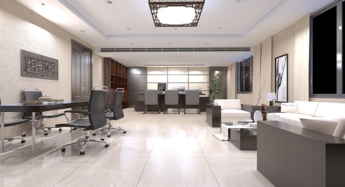 contemporary office modern looking gray palette