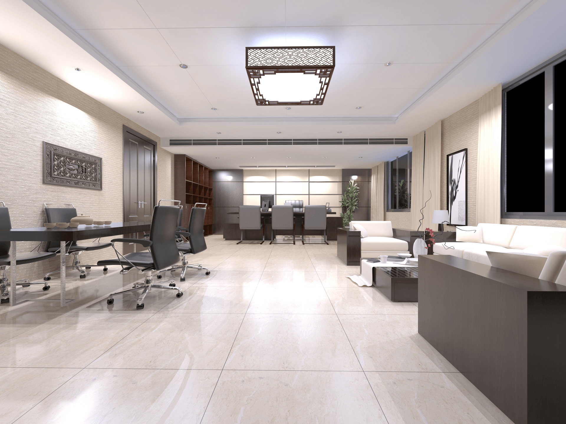 office room chairs suspended ceiling lamp
