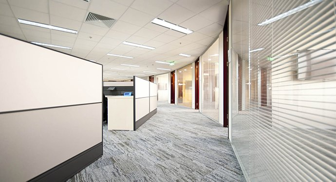 Glass & Solid office partitioning