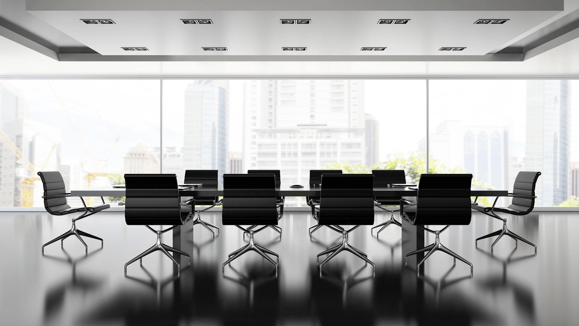 architectural chairs modern conference room beautiful landscape