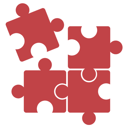 puzzle pieces separated piece icon services