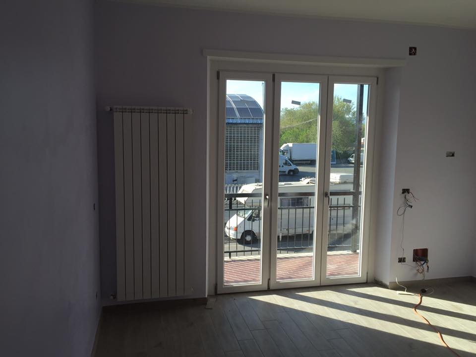 una porta finestra in pvc