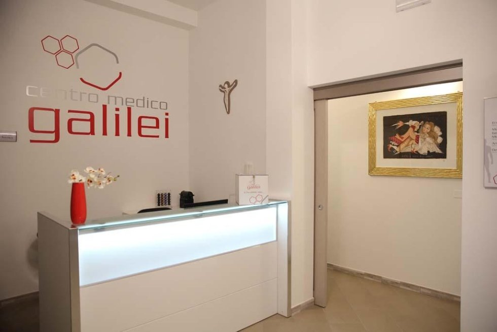 la reception del Centro medico Galilei