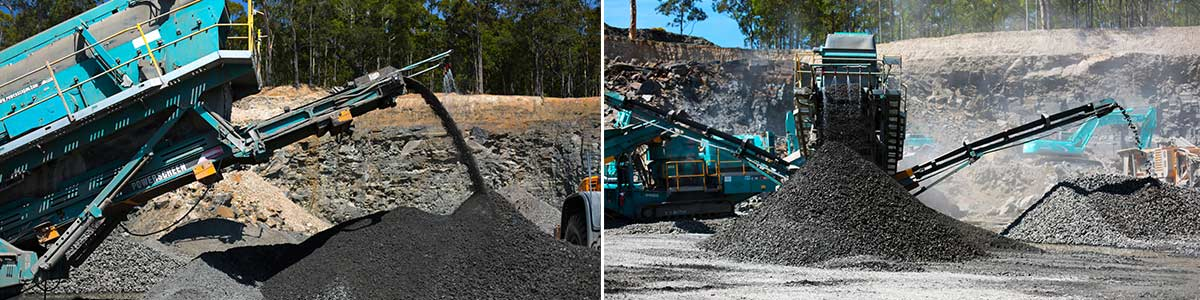 south coast concrete crushing and recycling work in quarry