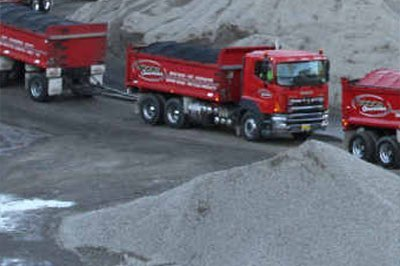 south coast concrete crushing and recycling red vehicles at quarries